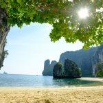 Exotic landscape in Thailand Railay beach in Krabi
